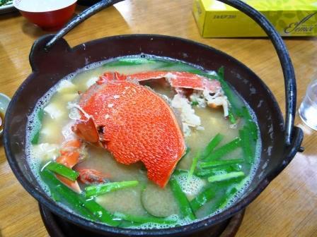 アサヒガニお味噌汁